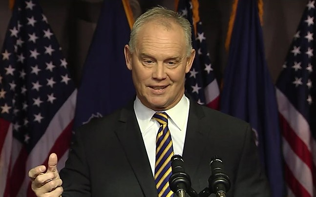 Mike Turzai announcing his retirement - SCREENCAP FROM PA. HOUSE OF REPRESENTATIVES LIVE STREAM