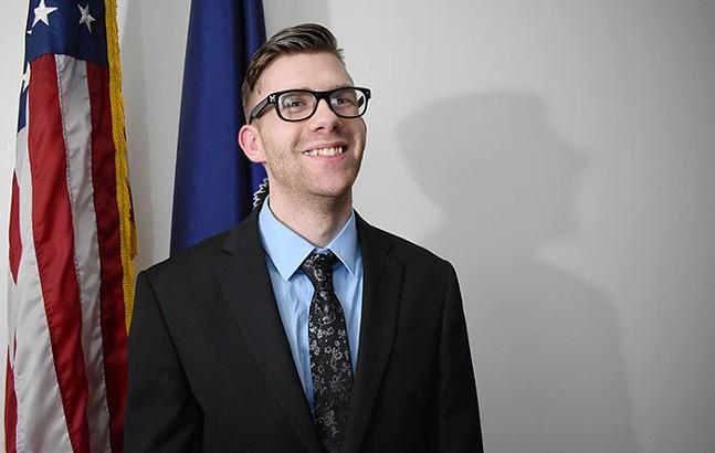Monessen Mayor Matt Shorraw - PHOTO: SHOTS BY LINZI