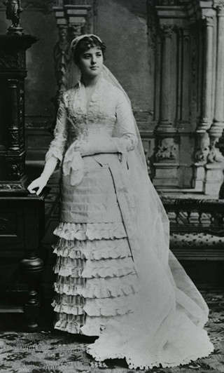 Adelaide Howard Childs Frick in her wedding dress. - PHOTO: THE FRICK COLLECTION/FRICK ART REFERENCE LIBRARY ARCHIVES