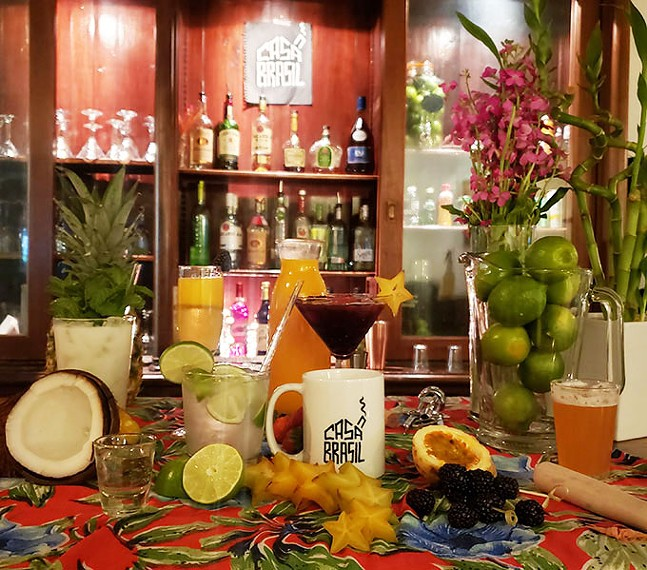 Caipirinha, passion fruit mimosa, coconut batida, caipifruta and cachaça - PHOTO: CASA BRASIL