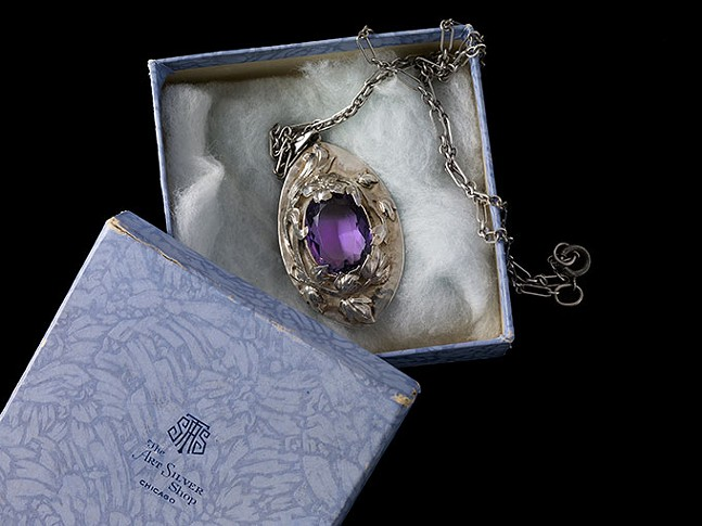 Pendant in its original box by The Art Silver Shop of Chicago - JOHN FAIER/THE RICHARD H. DRIEHAUS MUSEUM