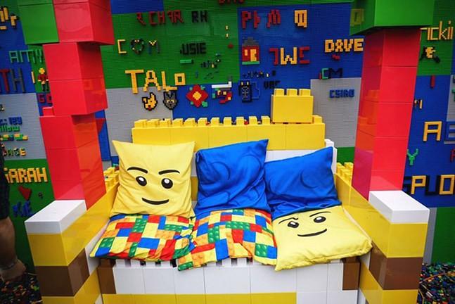 A throne fit for a Lego fan - PHOTO: COURTESY OF BRICK BAR