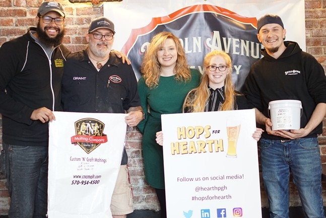 HEARTH, First Sip Brew Box, and Lincoln Avenue Brewery members - PHOTO: SAMMIE GUY