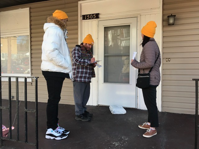 Casa San Jose volunteers canvassing in Beechview on Feb. 22 - CP PHOTO: RYAN DETO