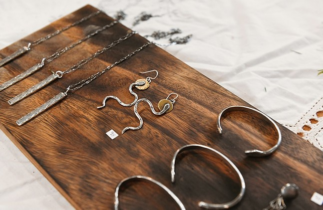 Jewelry by All Rise vendor, Horsethief Silver - PHOTO: ERIN KELLY