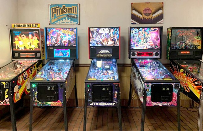 Pinball machines at Ace's Breakaway and Play in Downtown - CP PHOTO: OLLIE GRATZINGER