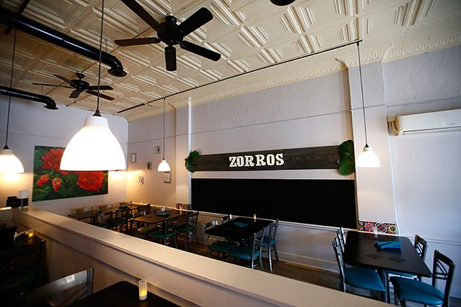 The interior of Zorros restaurant - CP PHOTO: JARED WICKERHAM