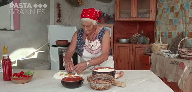 SCREENSHOT OF PASTA GRANNIES YOUTUBE CHANNEL