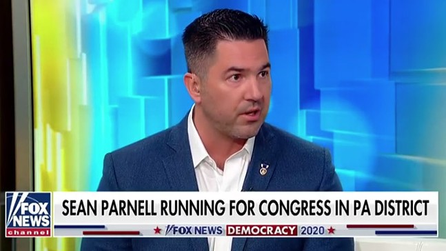A screencap from Sean Parnell's appearance on FOX News, included as part of a campaign video on seanforcongress.co