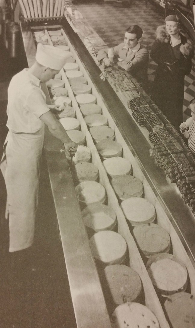 Scooping ice cream in a traditional Isaly's store - PHOTO: ISALY'S, LLC