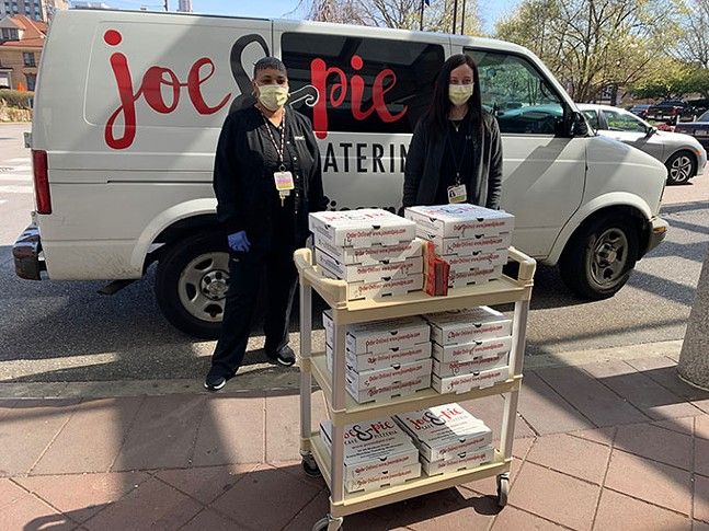 Joe & Pie Café & Pizzeria delivering to UPMC Magee-Women's Hospital - PHOTO: JOE & PIE CAFÉ & PIZZERIA