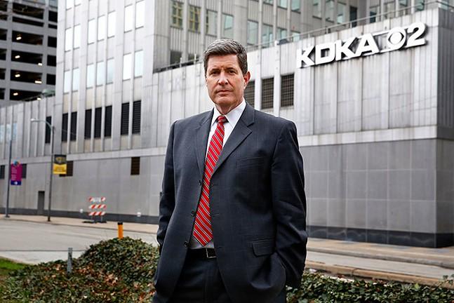 Rick Dayton, Morning News Anchor at Pittsburgh's KDKA-TV - CP PHOTO: JARED WICKERHAM