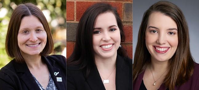 From left to right: Lissa Geiger Shulman, Emily Kinkead, and Jessica Benham