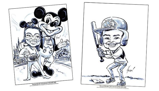 Caricatures by Howard Bender