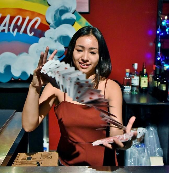 Magician Anna DeGuzman - PHOTO: RICHARD M. JOHNSON PHOTOGRAPHY