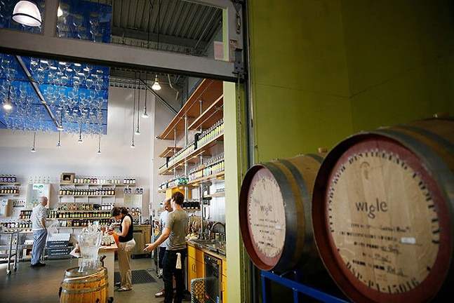 Wigle Whiskey in the Strip District in 2018 - CP PHOTO: JARED WICKERHAM