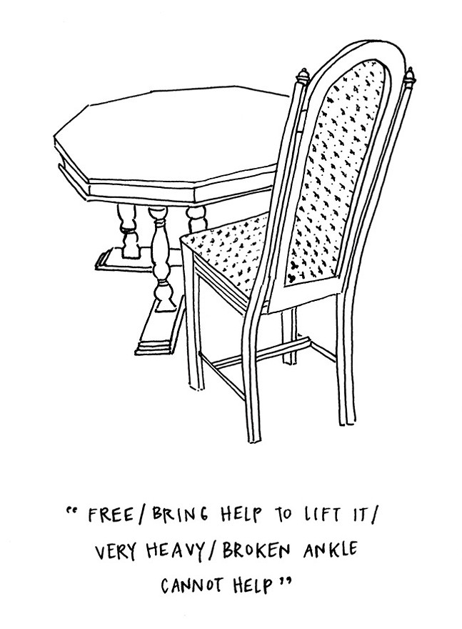 Found listed on Pittsburgh Craigslist for free - CP ILLUSTRATION: ABBIE ADAMS