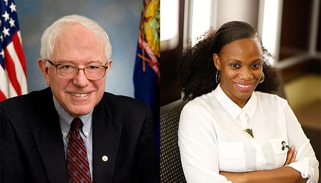 Bernie Sanders and Summer Lee