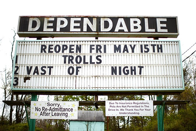 Dependable Drive In Theater is shown on Sat., May 9, 2020 in Moon, Pa. - CP PHOTO: JARED WICKERHAM