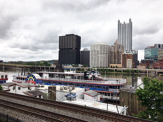 The Gateway Clipper boats docked at Station Square - CP PHOTO: JEFF SCHRECKENGOST