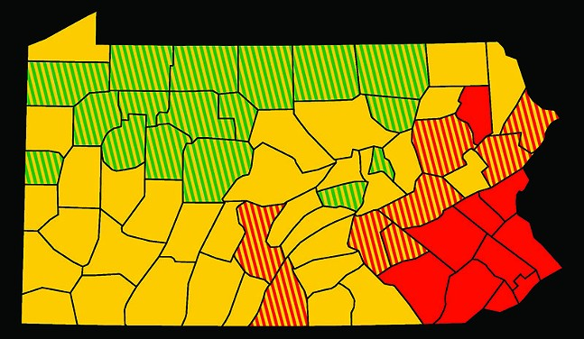 Pa. counties as of May 22