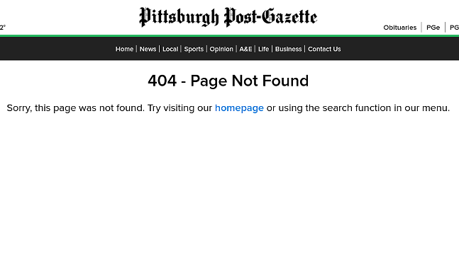 Pittsburgh Post-Gazette removes protest and police brutality stories from website following protests from union members