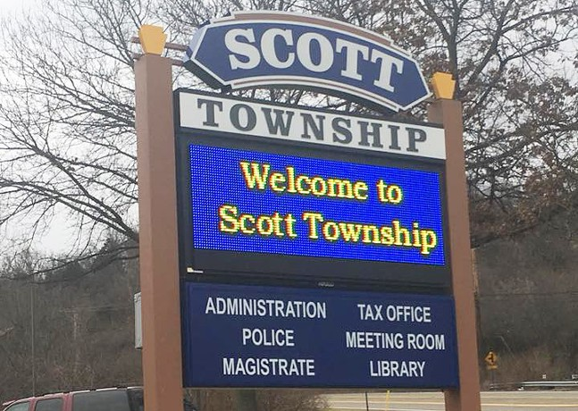 PHOTO FROM SCOTT TOWNSHIP'S FACEBOOK PAGE