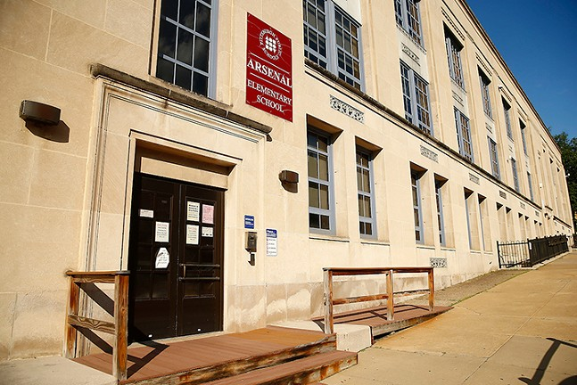 Arsenal Elementary School, part of Pittsburgh Public Schools, in Lawrenceville - CP PHOTO: JARED WICKERHAM