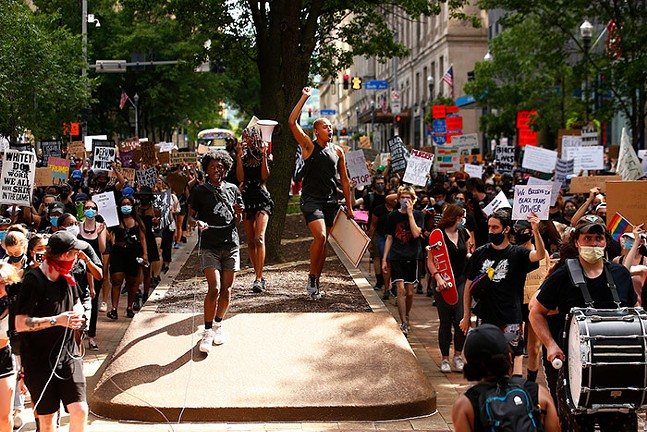 A Civil Saturdays protest in Downtown Pittsburgh on Sat., July 4, 2020. - CP PHOTO: JARED WICKERHAM