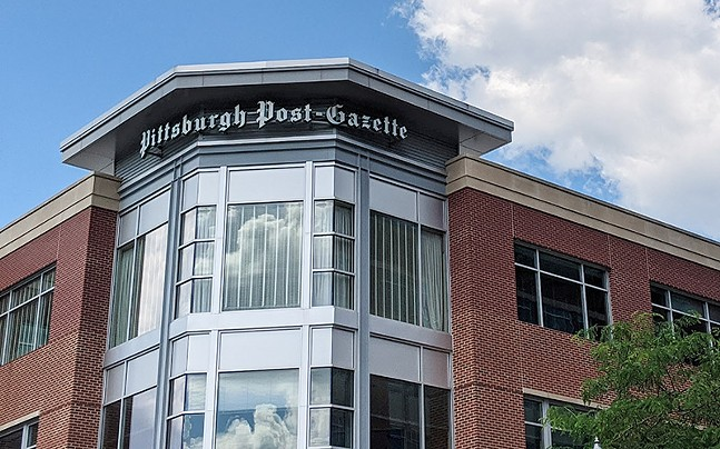 The Pittsburgh Post-Gazette offices on the North Side - CP PHOTO: LISA CUNNINGHAM