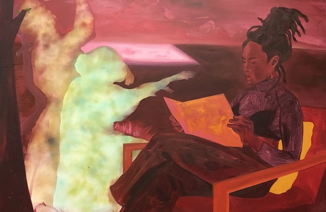 Dominic Chambers, Red Sky Visitors, 2019 - DOMINIC CHAMBERS/COURTESY OF AUGUST WILSON AFRICAN AMERICAN CULTURAL CENTER