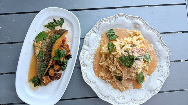 Branzino and pasta at DiAnoia's Eatery - CP PHOTO: MAGGIE WEAVER