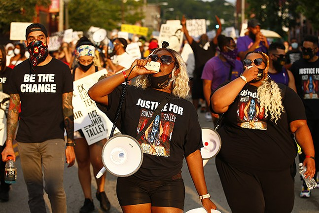 A Justice for Romir Talley protest in Wilkinsburg on Sat., Aug. 22, 2020 - CP PHOTO: JARED WICKERHAM