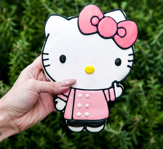 A Hello Kitty cookie from The Hello Kitty Cafe Truck - PHOTO: COURTESY OF THE HELLO KITTY CAFE TRUCK