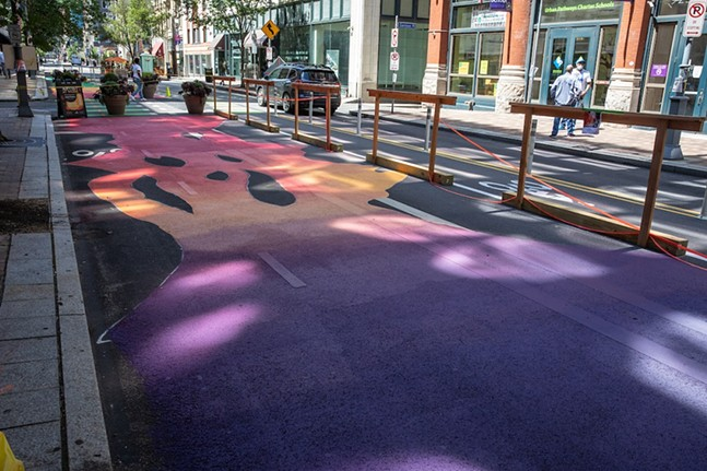 """Colorful Growth/Soft Waves"" on Penn Avenue, Downtown. - RENEE ROSENSTEEL/PITTSBURGH DOWNTOWN PARTNERSHIP"