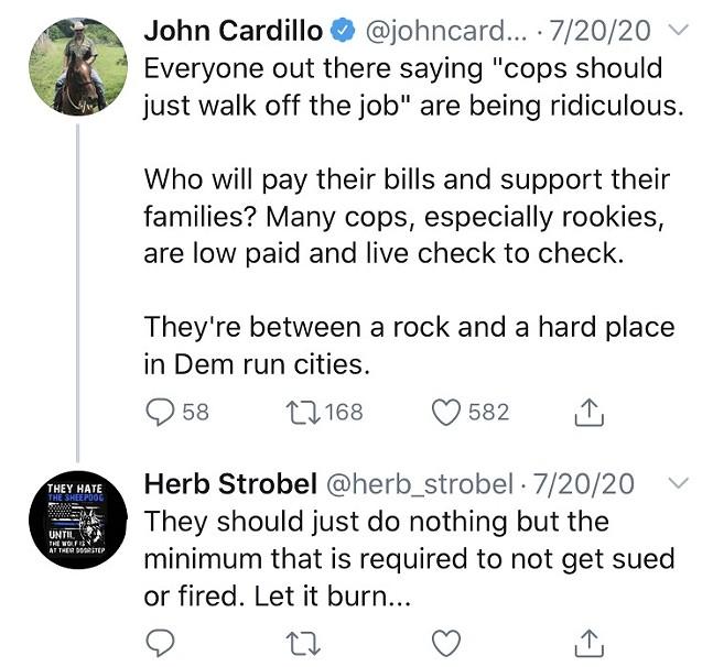 Strobel tweet reply from July 20 - SCREENSHOT TAKEN FROM TWITTER