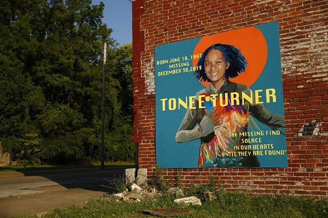 Tonee Turner mural on Braddock Avenue - CP PHOTO: JARED WICKERHAM