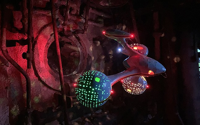 Spaceships by Ryder Henry, installed in the Cast House of the Carrie Blast Furnaces - PHOTOS: RIVERS OF STEEL