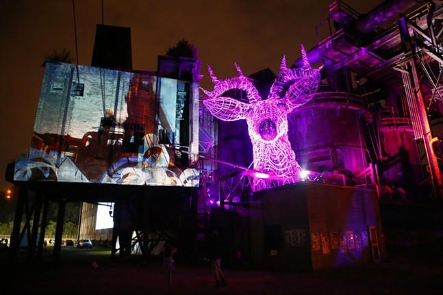 Lori Hepner (left) & Industrial Arts Collaborative (deer) - CP PHOTO: JARED WICKERHAM