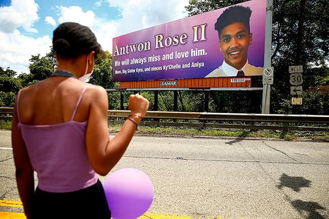Billboard honoring Antwon Rose Jr. - CP PHOTO: JARED WICKERHAM