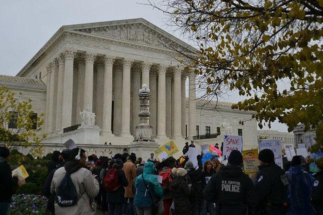 DACA supporters rally outside the U.S. Supreme Court on Tuesday, 11/12/19 - CAPITAL-STAR PHOTO BY ROBIN BRAVENDE