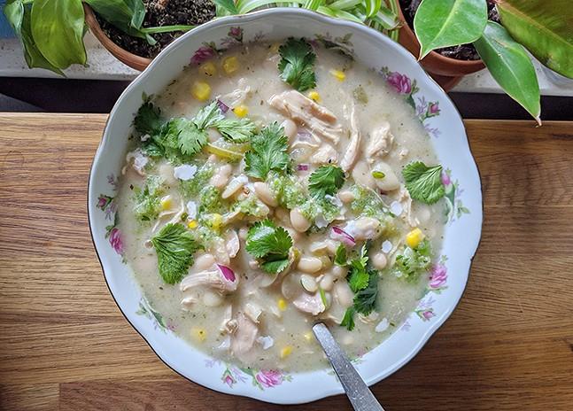 Brothmonger's white chicken chili - PHOTO: SARAH MCALEE
