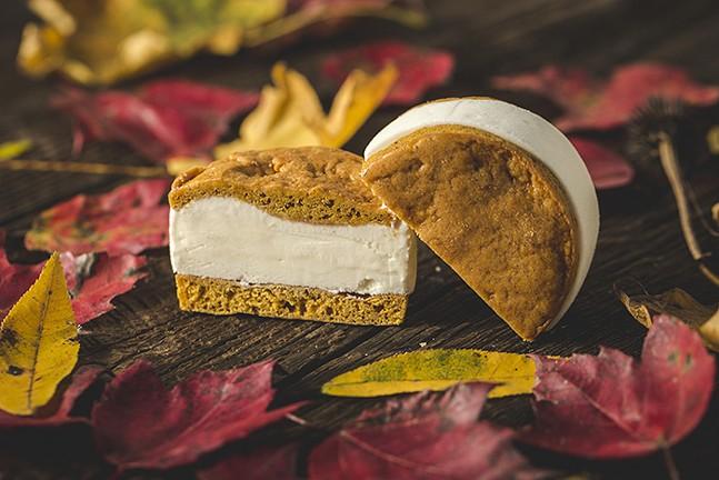 Sweet cream on pumpkin from Leona's Ice Cream - PHOTO: MATT DAYAK // STYLIST: KIM FOX