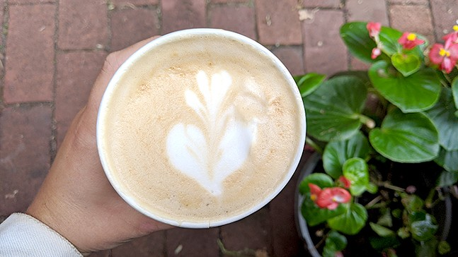 Honey Latte at Big Dog Coffee - CP PHOTO: MAGGIE WEAVER