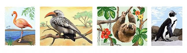 Brushes & Birds Virtual Art Classes at the National Aviary - ART: MARIA DESIMONE PRASCAK