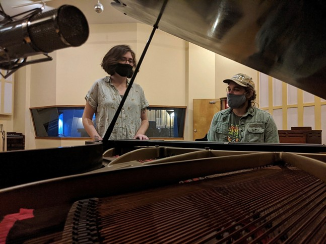 Hoffman and Amy Linette at Mr. Smalls Studio - PHOTO: NATE CAMPISI