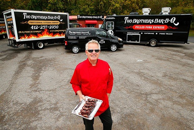 JP Mackovich, owner of Two Brother's BBQ - CP PHOTO: JARED WICKERHAM