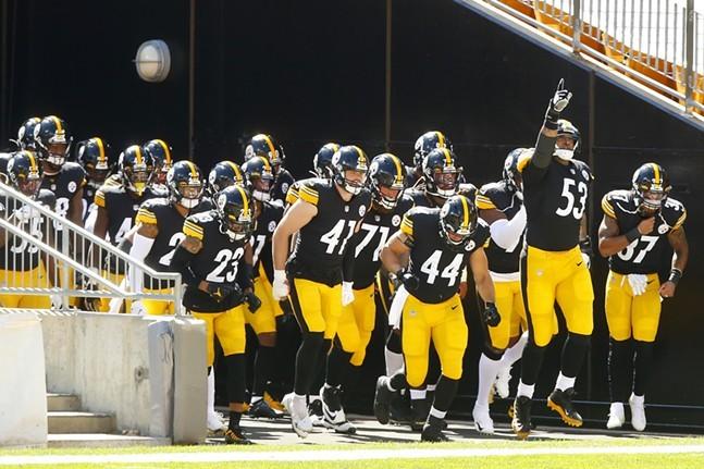 Steelers enter Heinz Field on Sept. 20 - CP PHOTO: JARED WICKERHAM