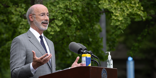 Gov. Tom Wolf speaks at Lancaster Health Center in July - PHOTO: COURTESY OFFICE OF GOVERNOR