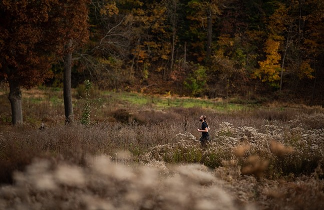 A runner on the grounds of the former Churchill Valley Country Club - PHOTO: LINDSAY DILL